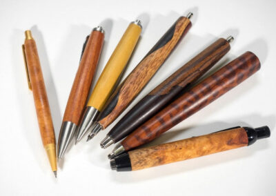 Drechseln mit Edelholz - Bleistifte mit Minen