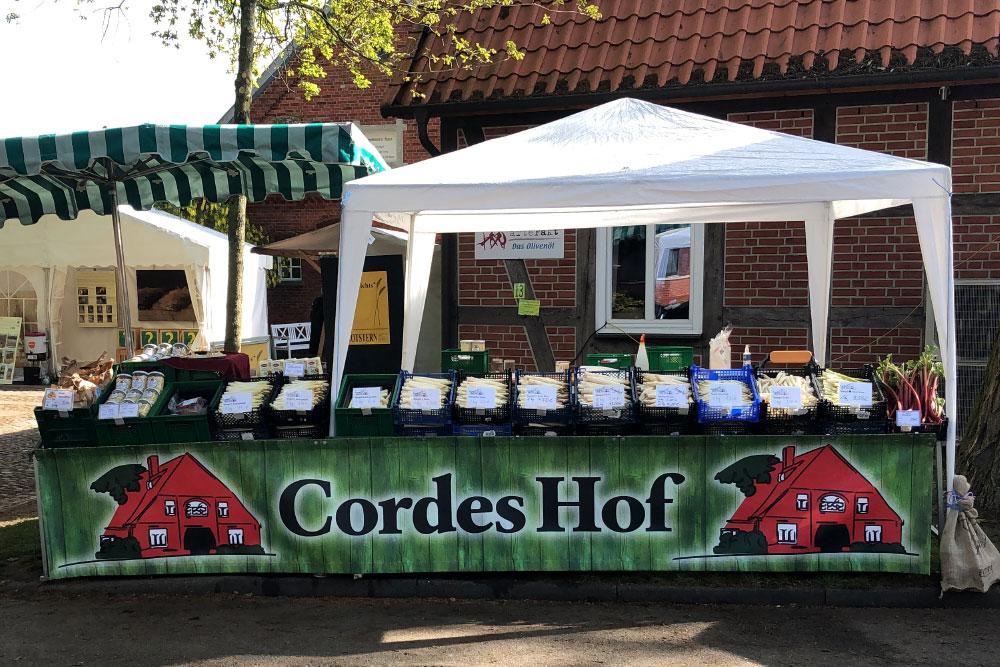 Marktstand von Cordes Hof